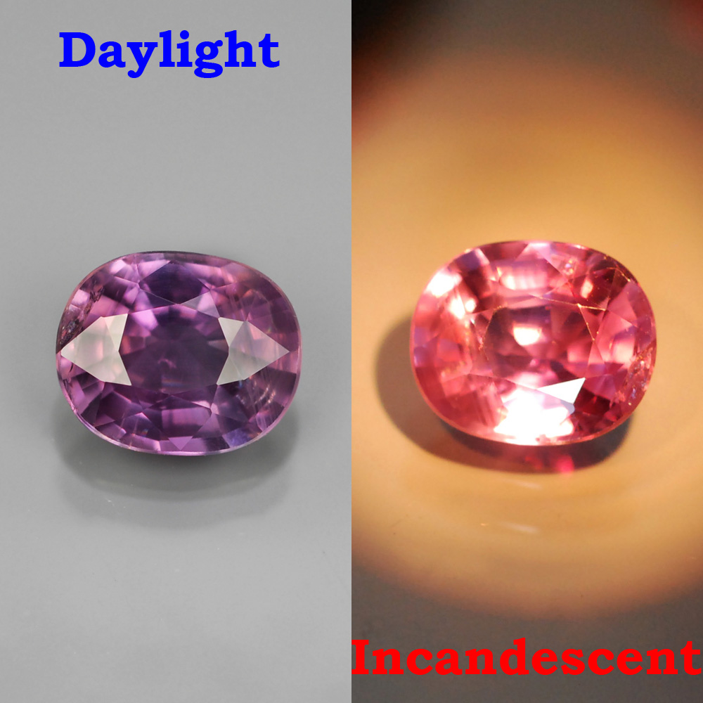 Genuine 100% Natural Color Change Sapphire 1.47ct 7.2x6.0x3.8mm SI1 Madagascar