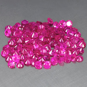Genuine Set RUBY'S (103) 2.66cts 1.7 x 1.7 x 1.2mm Round