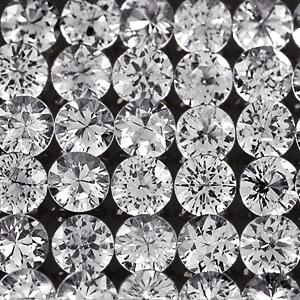 Genuine 100% Natural Set WHITE SAPPHIRES (20) .64cts 1.8 x 1.8mm Round Diamond Cut