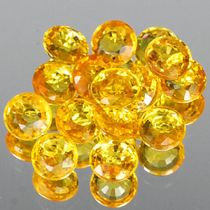 Genuine Set YELLOW SAPPHIRES (15) 2.81cts 3.2 x 3.2 x 2.0mm Round