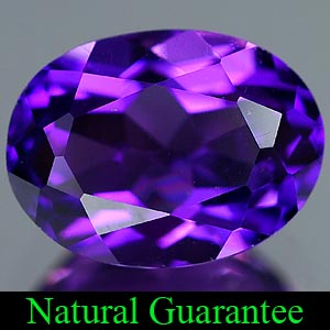 Genuine 100% Natural AMETHYST 1.10ct 7.7 x 5.8mm Oval