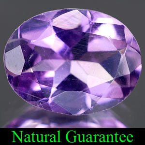Genuine 100% Natural AMETHYST 1.50ct 9.0 x 7.0mm Oval