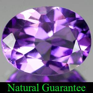 Genuine 100% Natural AMETHYST 1.56ct 9.0 x 7.0mm Oval