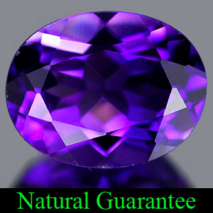 Genuine 100% Natural AMETHYST 1.74ct 9.0 x 7.0mm Oval
