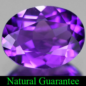 Genuine 100% Natural AMETHYST 1.76ct 9.0 x 7.0mm Oval