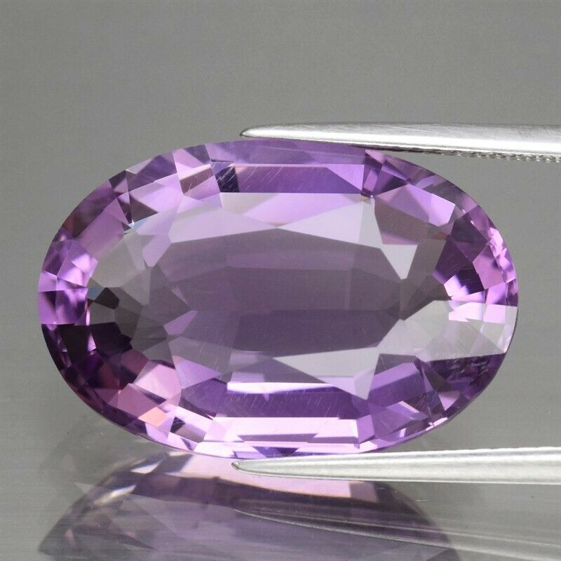 Genuine 100% Natural Amethyst 15.09ct 20.4 x 13.7mm Oval IF Clarity