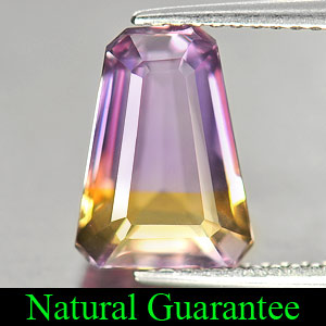 Genuine 100% Natural Ametrine 3.10ct 10.5 x 7.7mm Trapezoid VVS Clarity