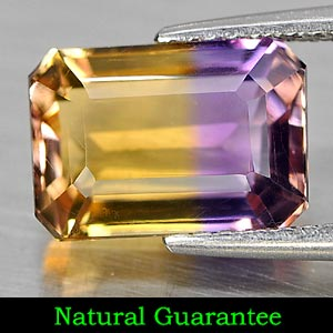 Genuine 100% Natural Ametrine 3.19ct 10.3 x 7.2mm Octagon VVS Clarity