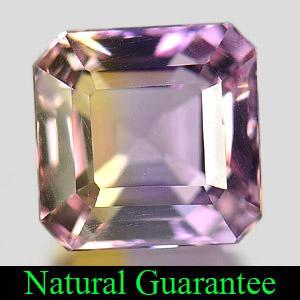 Genuine 100% Natural Ametrine 3.76ct 8.5 x 8.4mm Square VVS Clarity