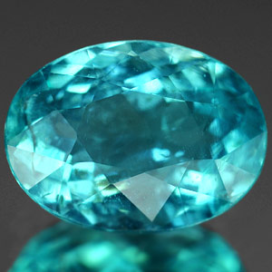 Genuine 100% Natural APATITE 1.10ct 7.6 x 5.6mm Oval