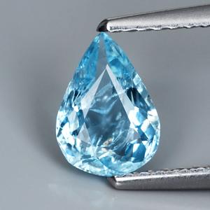 Genuine 100% Natural Blue Aquamarine .73ct 7.7 x 5.5mm VS1