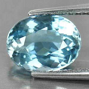 Genuine 100% Natural Blue Aquamarine 1.51ct 8.4 x 6.5mm Oval SI1 Clarity
