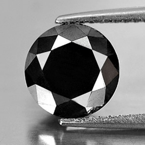 Genuine 100% Natural Large Black Diamond 2.50ct 8.2 x 8.2mm Round Opaque (Certified)