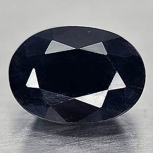Genuine Black Sapphire 1.08ct 6.9 x 5.0 x 3.4 Transulucent Austrailia