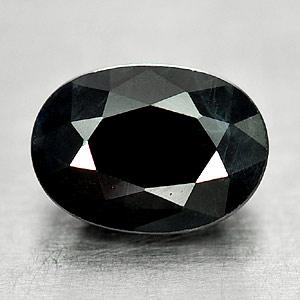 Genuine Black Sapphire 1.23ct 7.0 x 5.0mm Oval Opaque