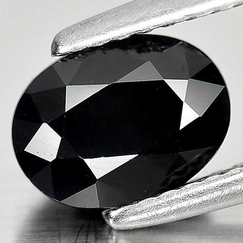 Genuine Black Sapphire 1.81ct 8.0 x 6.0mm Oval Opaque