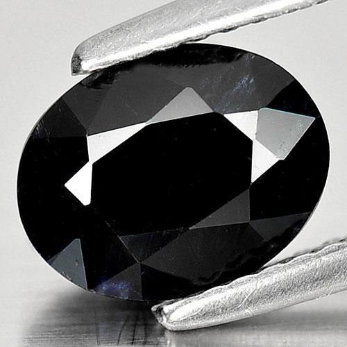 Genuine Black Sapphire 1.90ct 8.6 x 6.7mm Oval Opaque