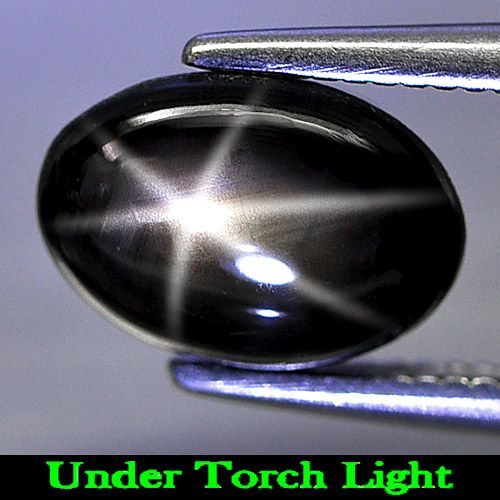 Genuine Cabochon Black Star Sapphire 1.95ct 8.8 x 6.2mm Oval Opaque