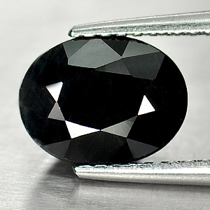 Genuine Black Sapphire 2.69ct 9.0 x 7.0mm Oval Opaque