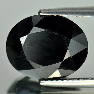 Genuine Black Sapphire 7.82ct 13.1 x 10.5 x 6.1mm Madagascar