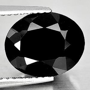 Genuine 100% Natural Black Spinel 3.38ct 10.5x8.6mm Opaque Thailand