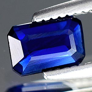 Genuine Blue Sapphire .46ct 5.7 x 3.8mm Octagon VS1 Clarity