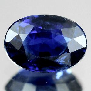 Genuine Blue Sapphire .63ct 6.0 x 4.2mm Madagascar SI