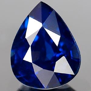 Genuine BLUE SAPPHIRE .64ct 5.8 x 4.7 x 3.1mm Pear