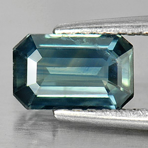 Genuine Blueish Green Sapphire .86ct 7.0 x 4.5mm Octagon VS1 Clarity