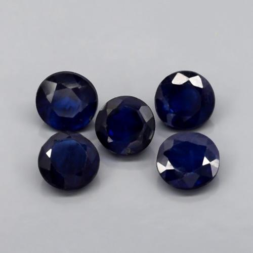 Genuine Blue Sapphires .62ct 5x5 SI1 Madagascar