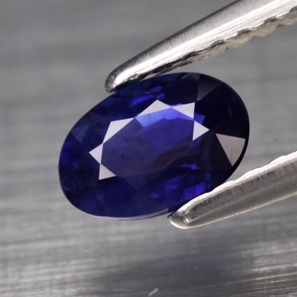 Genuine Blue Sapphire .63ct 6.0 x 4.0mm Oval SI1 Clarity