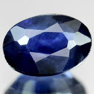 Genuine Blue Sapphire 0.69ct 6.0x4.2x3.1mm Oval SI Madagascar
