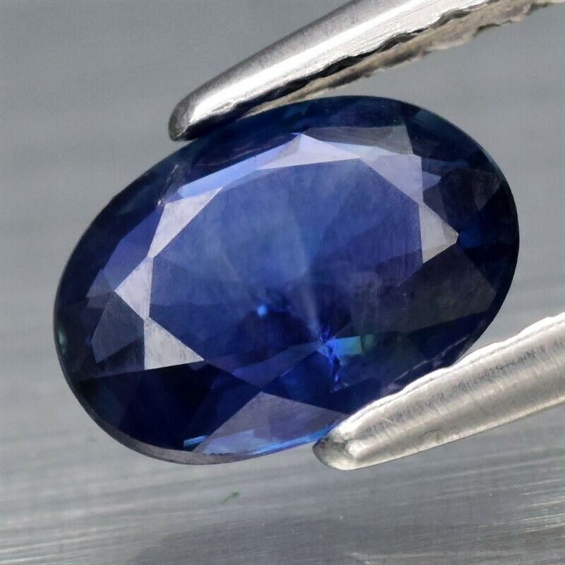Genuine 100% Natural Blue Sapphire .71ct 6.82 x 4.92mm Oval SI1 Clarity (Certified)