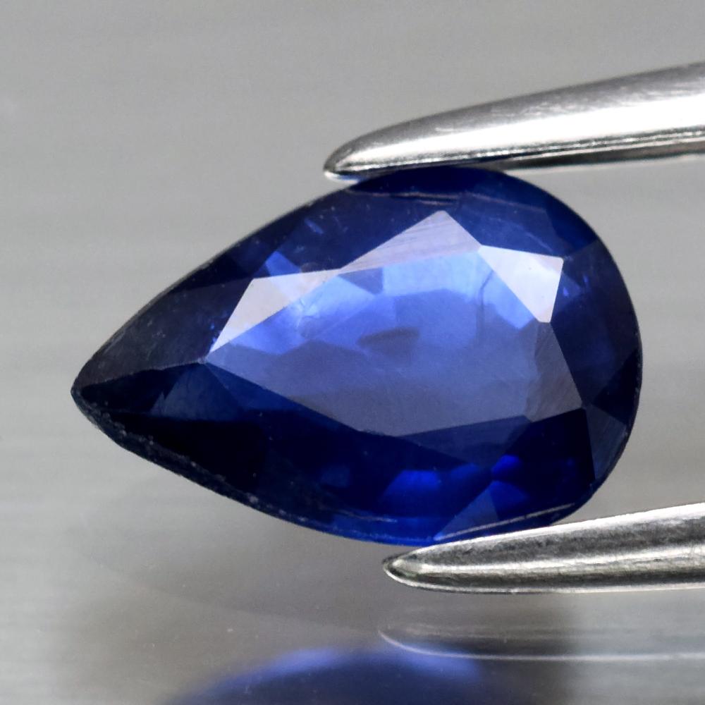 Genuine Blue Sapphire .72ct 7.0 x 5.0mm Pear SI1 Clarity