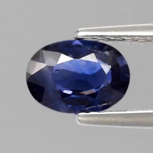 Genuine Blue Sapphire 0.73ct 6.5x4.7x2.5mm Oval SI1 Thailand