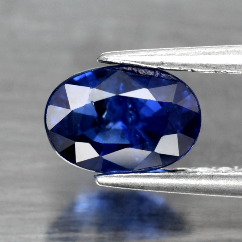 Genuine Blue Sapphire 0.78ct 6.0 x 4.0mm Oval SI1 Clarity