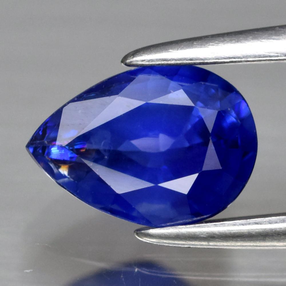 Genuine Blue Sapphire .79ct 6.8 x 4.8mm Pear SI1 Clarity from Ceylon