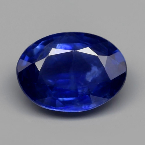 Genuine Blue Sapphire 0.83ct 6.5x4.8x2.7mm Oval SI1 Madagascar
