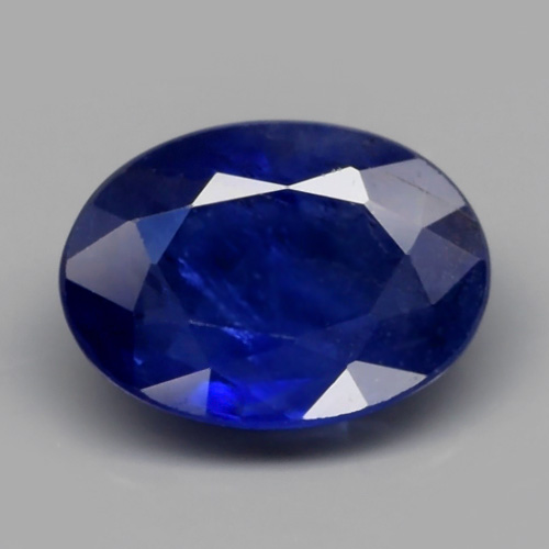 Genuine Blue Sapphire 0.83ct 6.8x5.0x2.5mm Oval SI1 Madagascar