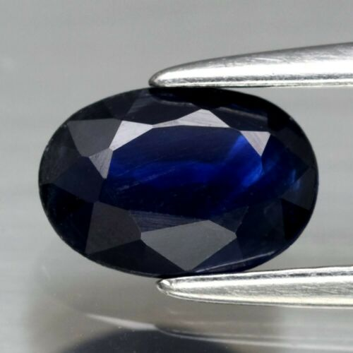 Genuine Blue Sapphire .90ct 6.8 x 4.8mm Oval SI1 Clarity