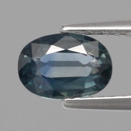 Genuine Bluish Green Sapphire 0.92ct 7.0x5.0x2.7mm SI1 Madagascar