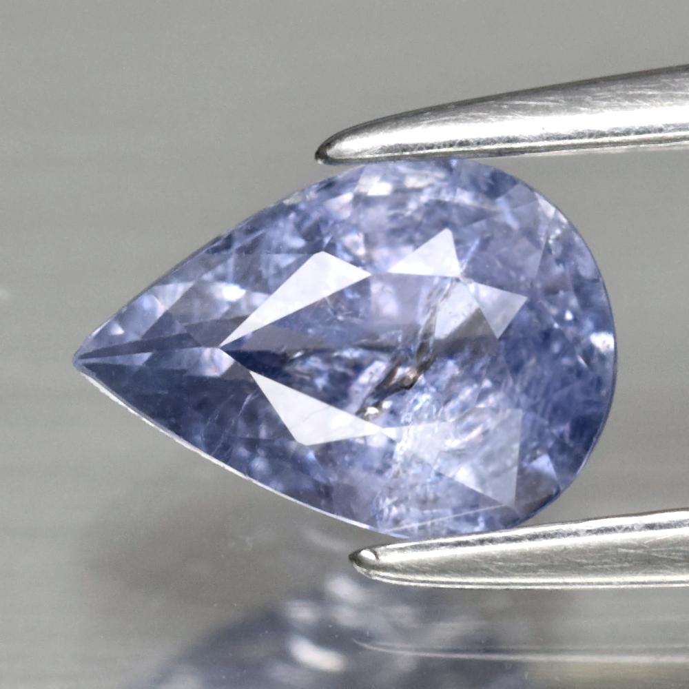 Genuine 100% Natural Blue Sapphire 0.96ct 7.2 x 5.2mm Pear SI2 Clarity