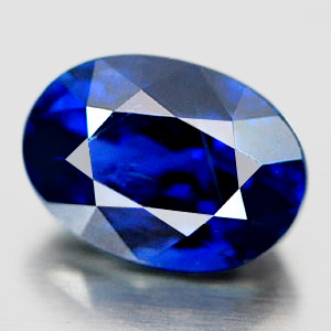 Genuine 100% Natural Blue Sapphire 1.07ct 6.68 x 4.79mm Oval SI Clarity (Certified)
