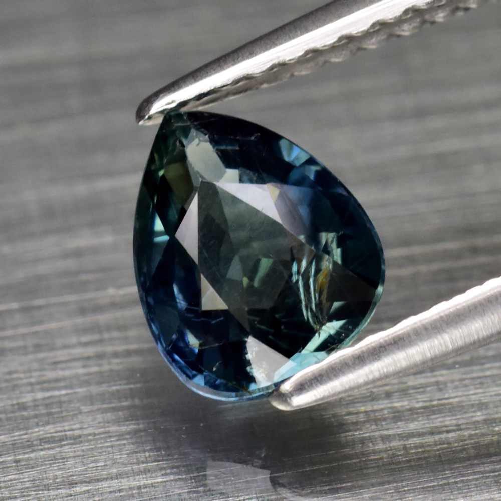Genuine 100% Natural Greenish Blue Sapphire 1.12ct 7.2 x 5.7mm Pear SI1 Clarity