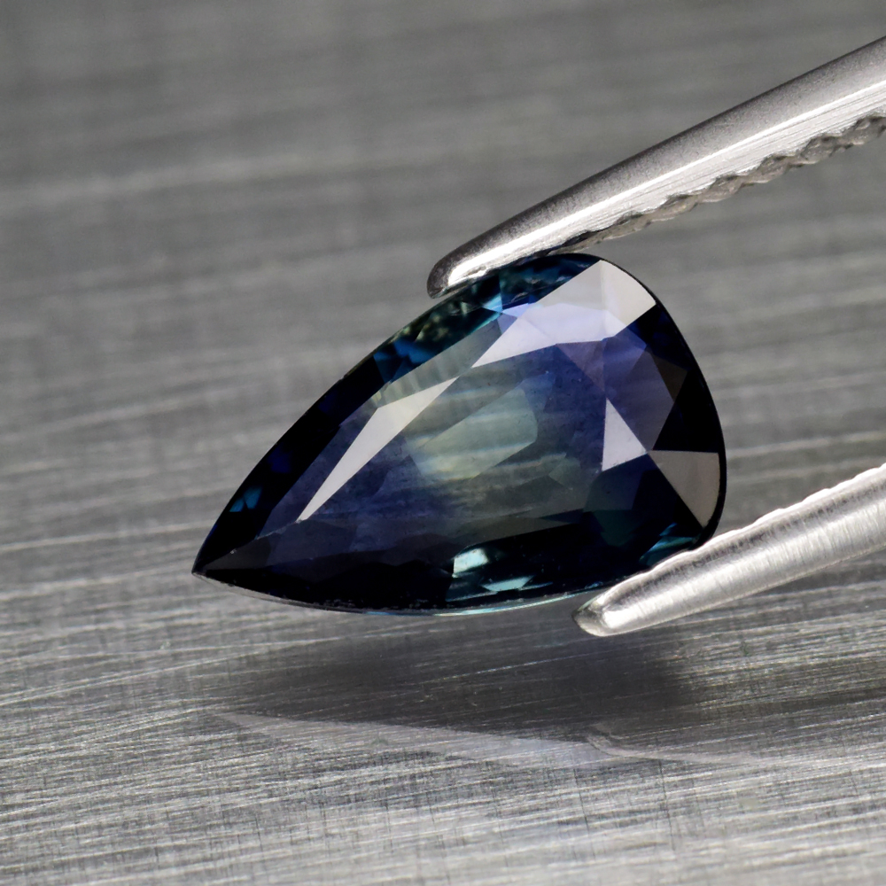 Genuine 100% Natural Blue Sapphire 1.13ct 9.0 x 5.7mm Pear VS Clarity