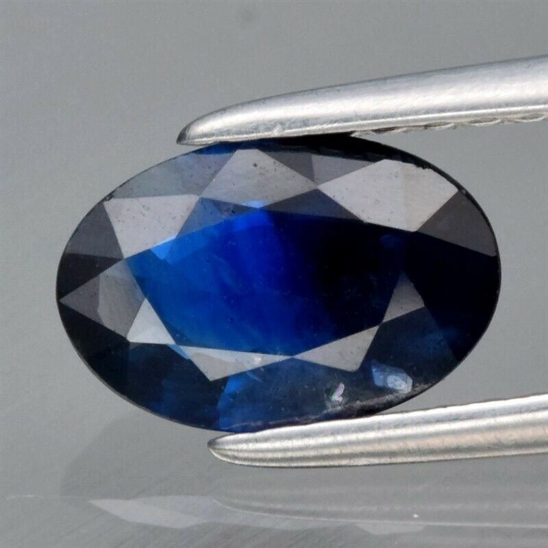 Genuine 100% Natural Blue Sapphire 1.14ct 8.0 x 5.3mm Oval SI1 Clarity