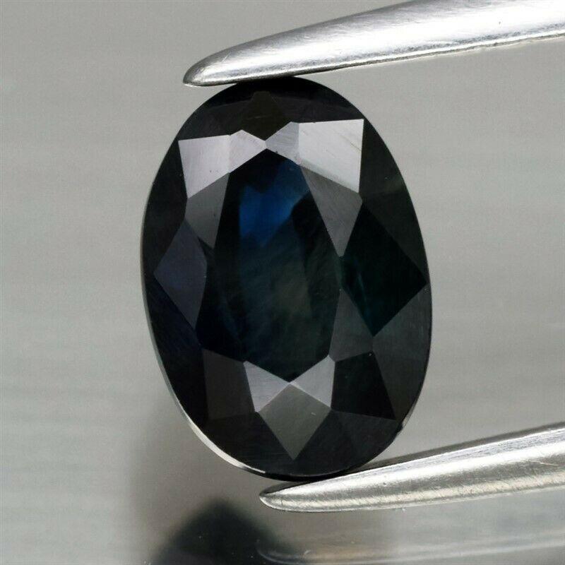 Genuine Blue Sapphire 1.24ct 7.0 x 5.0mm Oval VS Clarity
