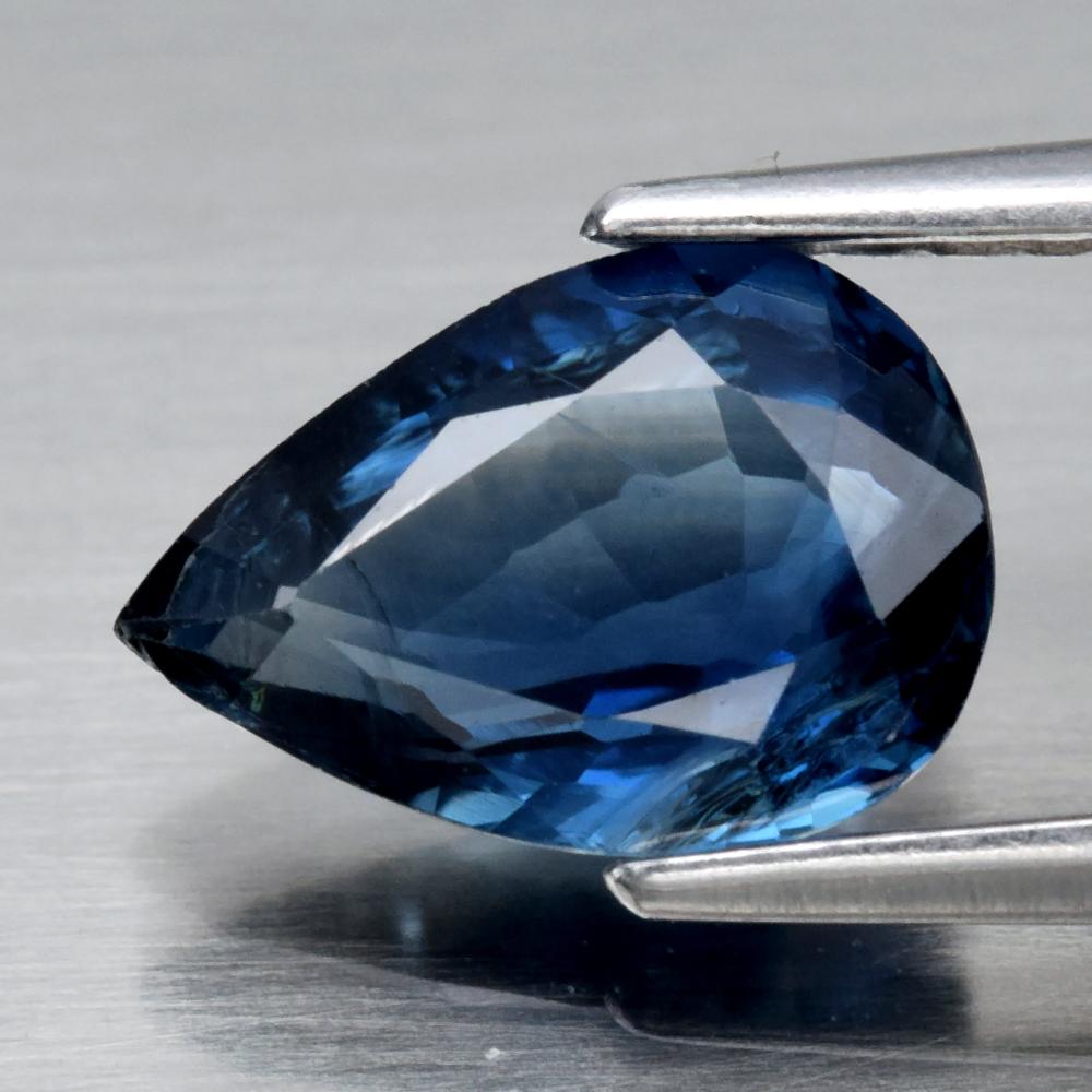 Genuine 100% Natural Blue Sapphire 1.28ct 8.2 x 5.7mm Pear SI1 Clarity