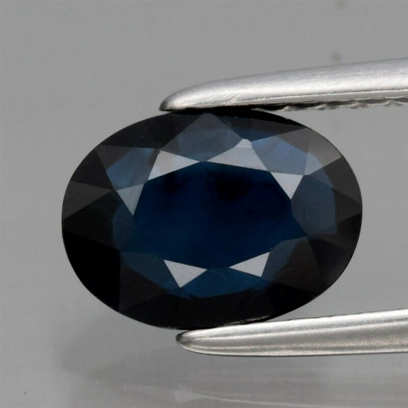Genuine 100% Natural Blue Sapphire 1.28ct 7.5 x 5.6mm Oval VS Clarity