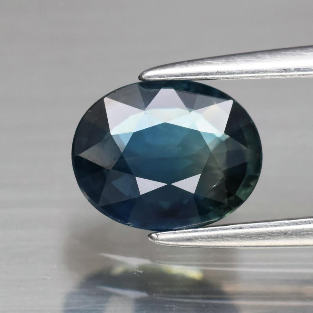 Genuine Bluish Green Sapphire 1.33ct 7.3 x 6.0mm Oval VS Clarity